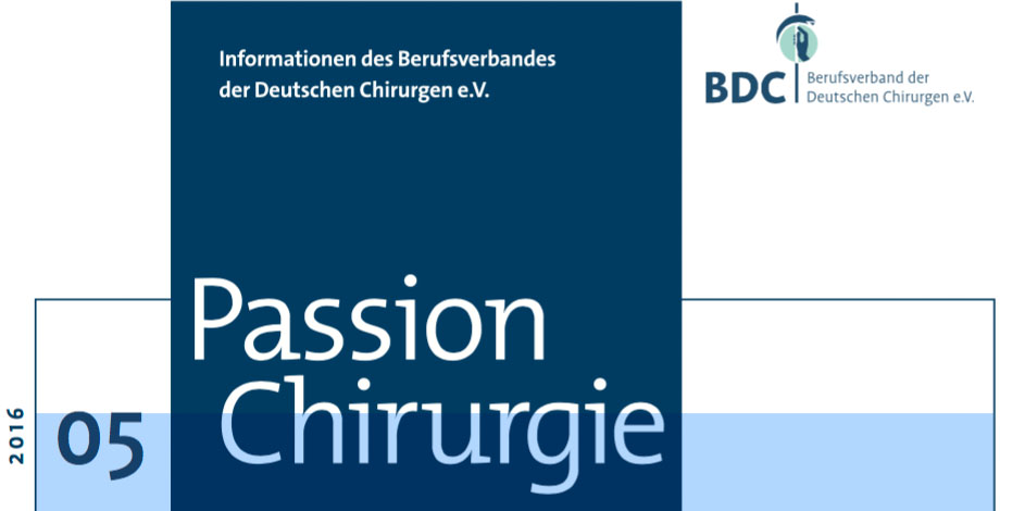 Cover Passion Chirurgie BDC